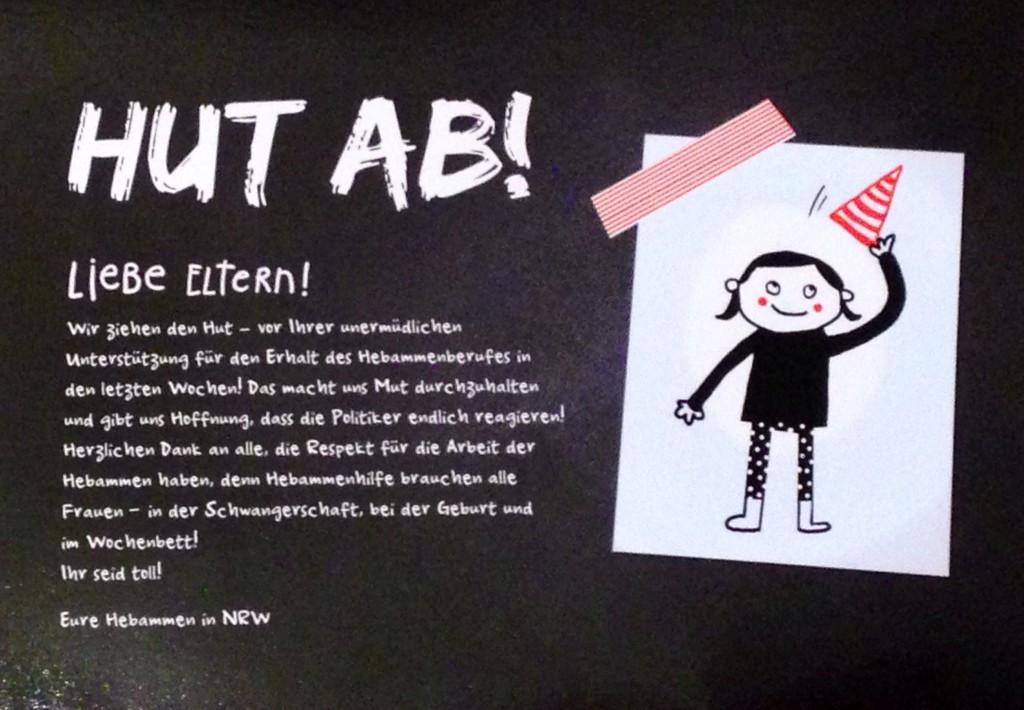 Postkarte des Landesverband der Hebammen www.hebammen-nrw.de